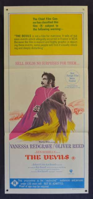 The Devils Poster Daybill Original 1971 Ken Russell Horror Witchcraft