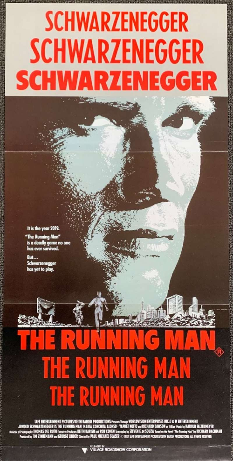 All About Movies - The Running Man 1987 movie poster ...