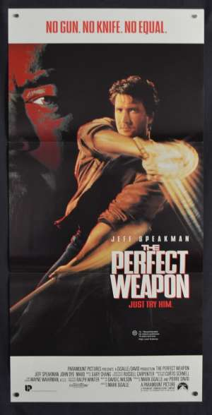 The Perfect Weapon Poster Original Daybill 1991 Jeff Speakman Kenpo Martial Arts