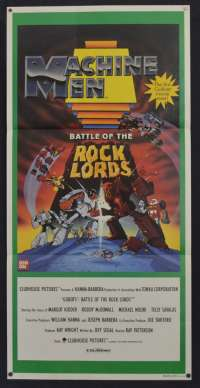 Machine Men Battle Of The Rock Lords Movie Poster Original Daybill 1986 Gobots