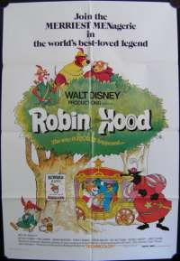 Robin Hood Disney One Sheet Australian Movie poster