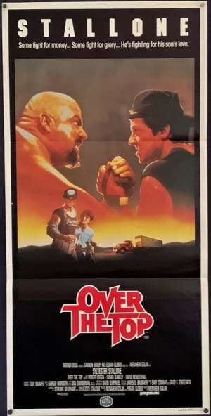 Over The Top Poster Original Daybill 1987 Sylvester Stallone Arm Wrestling