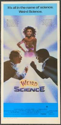 Weird Science Poster Original Daybill 1985 Sexy Kelly LeBrock John Hughes