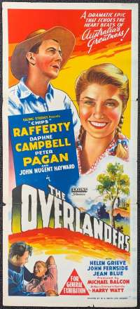 The Overlanders 1946 Daybill Movie Poster Hand Litho Original Chips Rafferty Ealing Studios