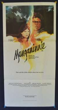 Manganinnie 1980 Aboriginal Tasmanian Film RARE Daybill movie poster
