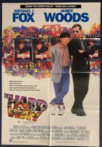 The Hard Way Poster Original One Sheet 1991 Michael J Fox Back To The Future