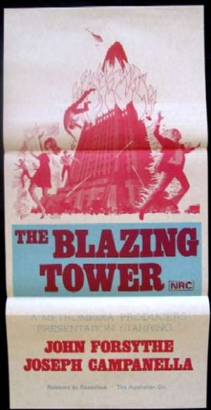 Blazing Tower, The Daybill Movie poster