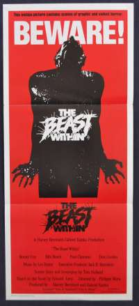 The Beast Within Movie Poster Original 1982 Daybill Ronny Cox