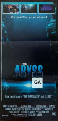 The Abyss Poster Original Daybill 1989 Ed Harris James Cameron Alien Sci-Fi