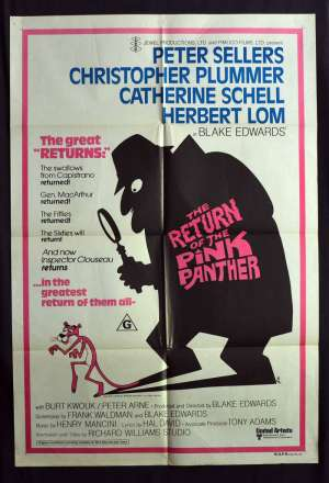 The Return Of The Pink Panther Poster Original One Sheet 1975 Peter Sellers