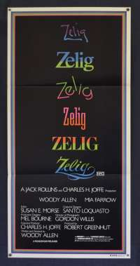 Zelig Movie Poster Original Daybill 1983 Woody Allen Mia Farrow