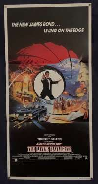 The Living Daylights Poster Original Daybill 1987 Timothy Dalton James Bond
