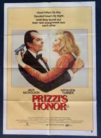 Prizzi's Honor Poster Original One Sheet 1985 Jack Nicholson Kathleen Turner