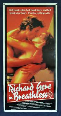 Breathless Poster Original Daybill 1983 Richard Gere Valérie Kaprisky