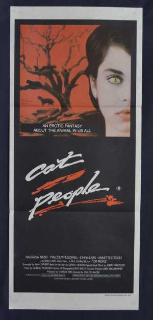 Cat People Movie Poster Original Daybill 1982 Nastassja Kinski David Bowie