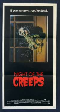 Night Of The Creeps poster Daybill Jason Lively Zombies Horror