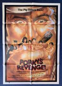 Porky's Revenge Poster Original One Sheet 1985 Dan Monahan The Pig Strikes Back!