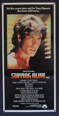 Staying Alive 1983 Daybill Movie poster John Travolta Cynthia Rhodes