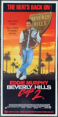 Beverly Hills Cop 2 1987 movie poster Daybill Eddie Murphy Judge Reinhold