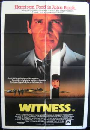Witness Poster One Sheet Original 1985 Harrison Ford Kelly McGillis
