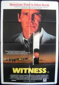 Witness 1985 movie poster Harrison Ford Kelly McGillis One Sheet