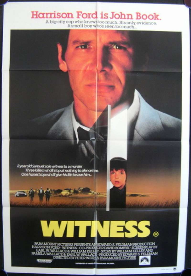 all about movies witness 1985 movie poster harrison ford