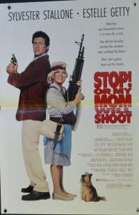 Stop! Or My Mom Will Shoot 1992 Rare Mini Daybill movie poster Sylvester Stallone