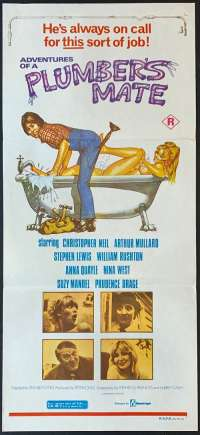 Adventures Of A Plumbers Mate Poster Daybill Christopher Neil Elaine Page
