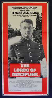 The Lords Of Discipline 1983 Daybill movie poster David Keith Military Cadet