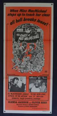The Class Of Miss MacMichael movie poster Daybill Glenda Jackson Oliver Reed