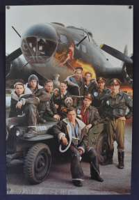 Memphis Belle 1990 Rare promotion movie poster different art Rolled B-17 Flying Fortress