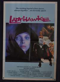 Ladyhawke Movie Poster One Sheet Rutger Hauer Michelle Pfeiffer