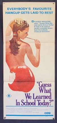 Guess What We Learned In School Today Poster Original Daybill 1970 Sexploitation