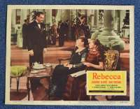 Rebecca 1940 Lobby Card No 2 11x14 Re-Issue 1956 Laurence Olivier Joan Fontaine