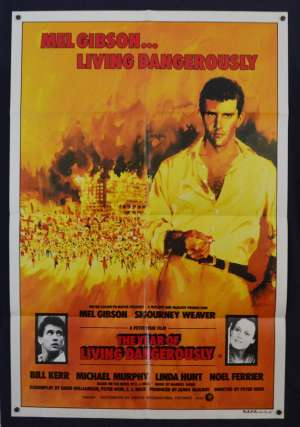 The Year Of Living Dangerously Poster Original One Sheet 1982 Mel Gibson Linda Hunt