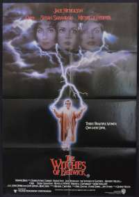 The Witches Of Eastwick Movie Poster Original One Sheet 1987 Jack Nicholson