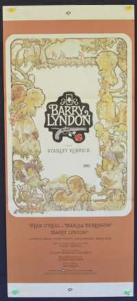 Barry Lyndon 1975 Ryan O'Neal Stanley Kubrick Daybill movie poster