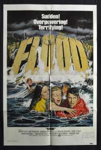 Flood 1976 One Sheet movie poster Irwin Allen Martin Milner Barbara Hershey