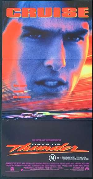 Days Of Thunder Poster Original Daybill 1990 Tom Cruise NASCAR racer