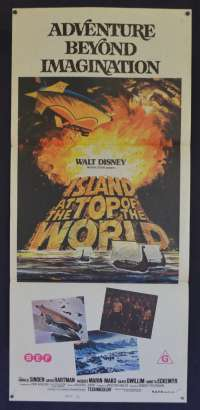 Island At The Top Of The World Movie Poster Original Daybill Disney Vikings