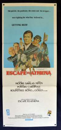 Escape To Athena Poster Original Daybill 1979 Roger Moore David Niven