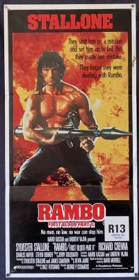Rambo First Blood Part II Daybill movie poster Sylvester Stallone