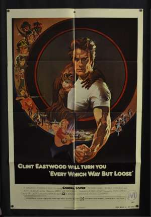 Every Which Way But Loose 1978 One Sheet movie poster USA Eastwood Bob Peak art
