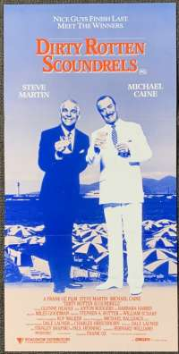 Dirty Rotten Scoundrels 1988 Daybill Movie Poster Michael Caine Steve Martin