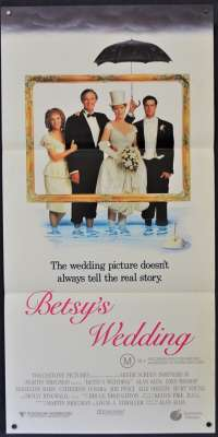 Betsys Wedding Movie Poster Original Daybill 1990 Alan Alda Molly Ringwald