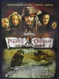 Pirates Of The Caribbean At The Worlds End 2007 DVD Poster Johnny Depp Geoffrey Rush Orlando Bloom