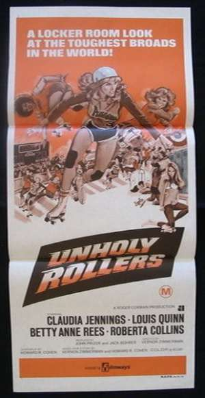 Unholy Rollers Poster Original Daybill 1972 Claudia Jennings