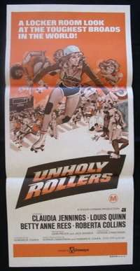 Unholy Rollers Daybill Movie poster