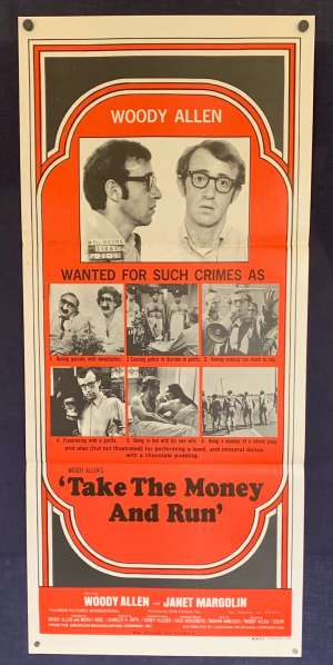 Take The Money And Run Poster Original Daybill 1969 Woody Allen Janet Margolin