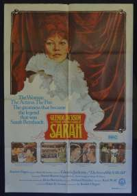 The Incredible Sarah Movie Poster Original One Sheet Glenda Jackson Sarah Bernhardt